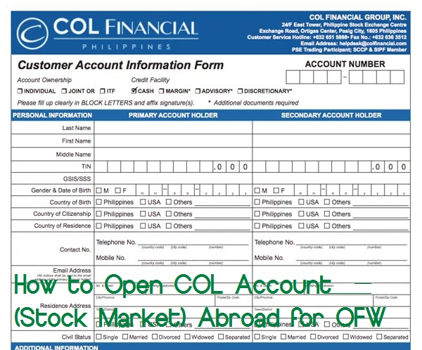 How to Open COL Account (Stock Market) Abroad for OFW