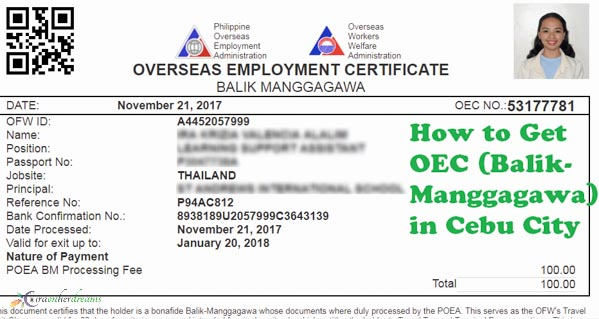 How to Get OEC (Balik-Manggagawa) in Cebu City