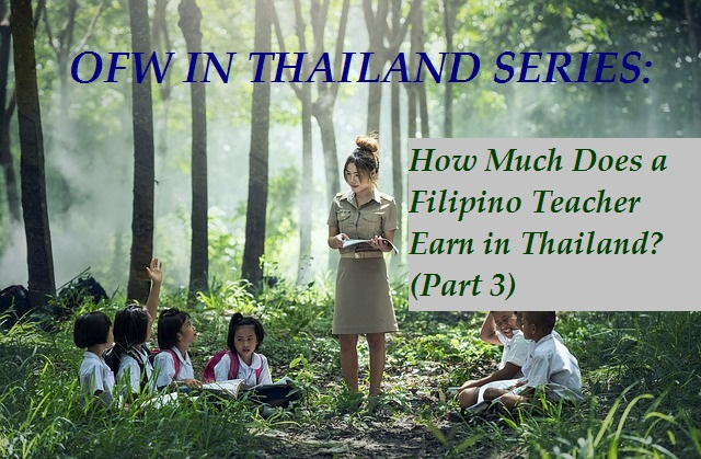 Filipino Teacher Earn in Thailand.Featured Pic