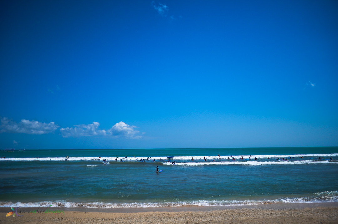 Surfing in Kuta Beach, Bali