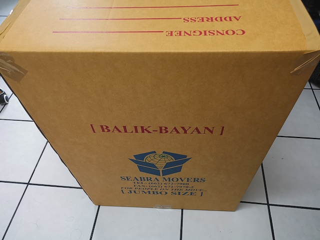 Balikbayan Box From Bangkok to the Philippines Through Seabra Movers