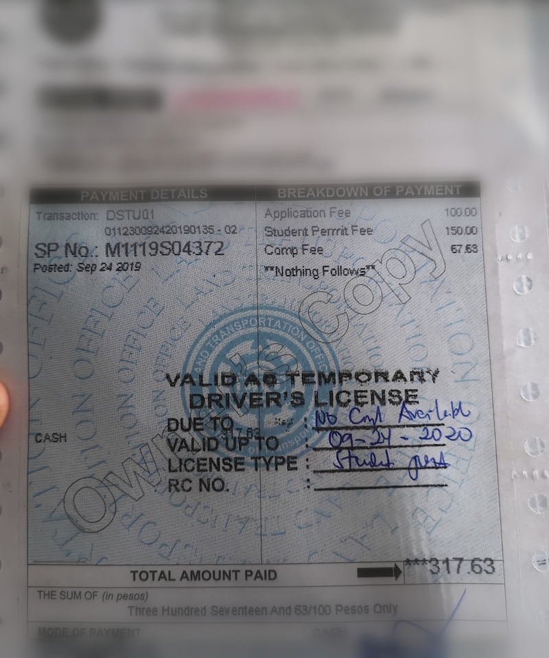 iraonherdreams-Student-permit-Philippines